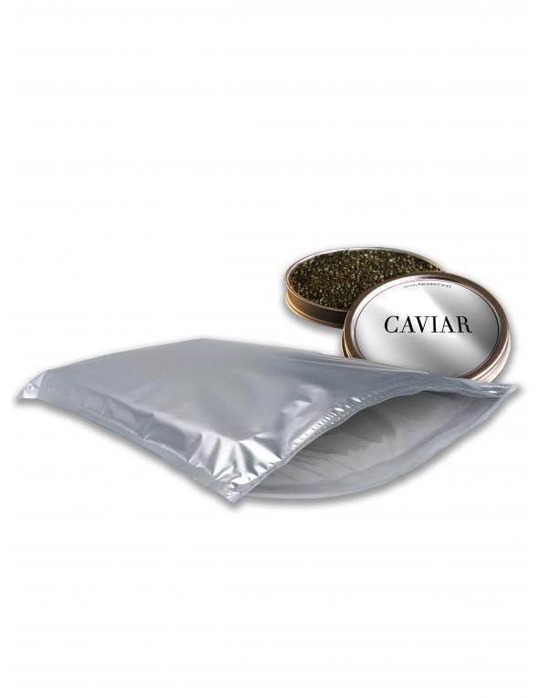 Pochette isotherme pour expédition de caviar