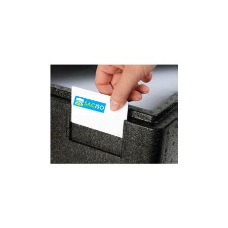 Caisse isotherme avec emplacement carte de visite